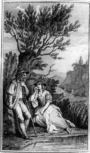 "A Lover's Complaint - The first known illustration to ""A Lover's Complaint"", from John Bell's 1774 edition of Shakespeare's works"