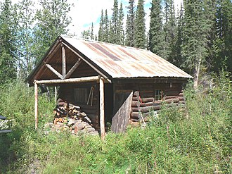 Architects of the National Park Service - Lower Toklat River Ranger Cabin No. 18, in a National Park Service style originated at Yellowstone