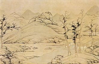 Lu Zhi (painter) - Lu Zhi, River Landscape in Spring , National Palace Museum, 1535