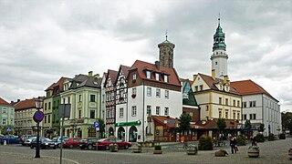 Lubań Place in Lower Silesian Voivodeship, Poland