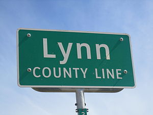 Lynn County, Texas - Image: Lynn County, TX, sign IMG 1492