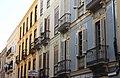 """Málaga, facades of houses on the street """"Calle Vendeja"""".JPG"""