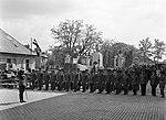 Mátyásföld, Újszász utca 41-43. Díszszázad a Magyar Királyi Honvéd gépkocsiszertár díszudvarán. Fortepan 72095.jpg