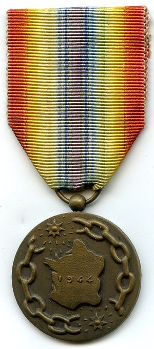 Medal of a liberated France - Image: Médaille de la France libérée