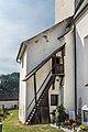 Mölbling Meiselding 1 Pfarrkirche hl. Andreas Sakristei mit Freitreppe 29082018 4417.jpg