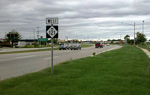 Michigan State Trunkline Highway System - Image: M 121 in Jenison