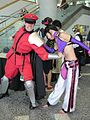 M. Bison & Juri Han cosplayers at FanimeCon 2010-05-30 2.JPG