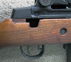 Springfield Armory M1A - Selector switch cutout in M1A stock manufactured in 1997