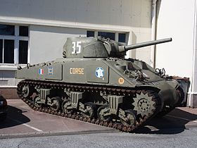 M4A2 Sherman tank in the Musée des Blindés, France, pic-1.JPG