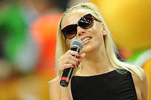 Mia (singer) - Mia performing at EuroBasket 2011