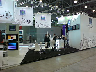 NTV Plus - NTV-Plus on CSTB-2009 exhibition, February, Moscow, Crocus Expo.