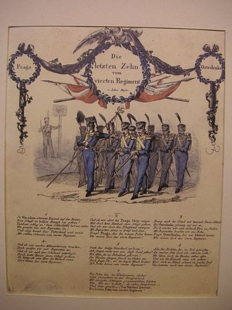 4th Regiment of Line Infantry - A German contemporary poem glorifying the actions of the 4th Regiment in the battle of Ostrołęka