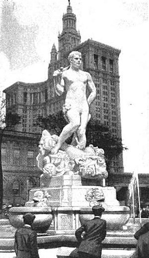Civic Virtue - The statue in front of New York City Hall, 1922