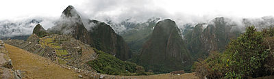 Panoramic Image of Machu Picchu and the Sacred Valley