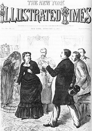 Madame Restell - Ann Lohman arrested by Anthony Comstock. From 23 February 1878 edition of the New York Illustrated Times.