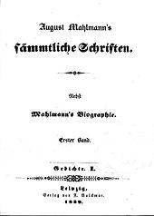 Titelblatt des ersten Bandes der Gesamtausgabe (Quelle: Wikimedia)