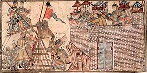 Mahmud of Ghazni - Sultan Mahmud and his forces attacking the fortress of Zaranj
