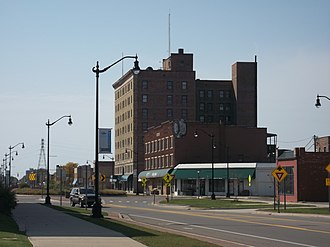 Benton Harbor, Michigan - Main Street in Downtown Benton Harbor