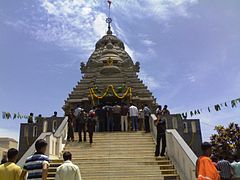 The entrance of the Jagannath Puri temple at Chennai
