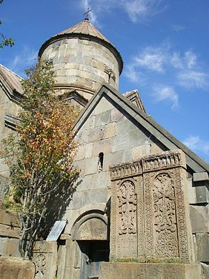 Makravank Monastery - 13th-century S. Astvatsatsin Church and 11th-century chapel (adjacent, right) at Makravank Monastery