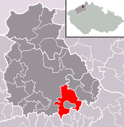 Location of Malečov