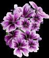Malva sylvestris (Mallow stylized flowers).png