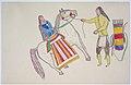 Man Greets Woman on Horse (Gokliz sketch).jpg