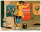 Man posting an advertisement for La publicité en France par Emile Mermet.jpg
