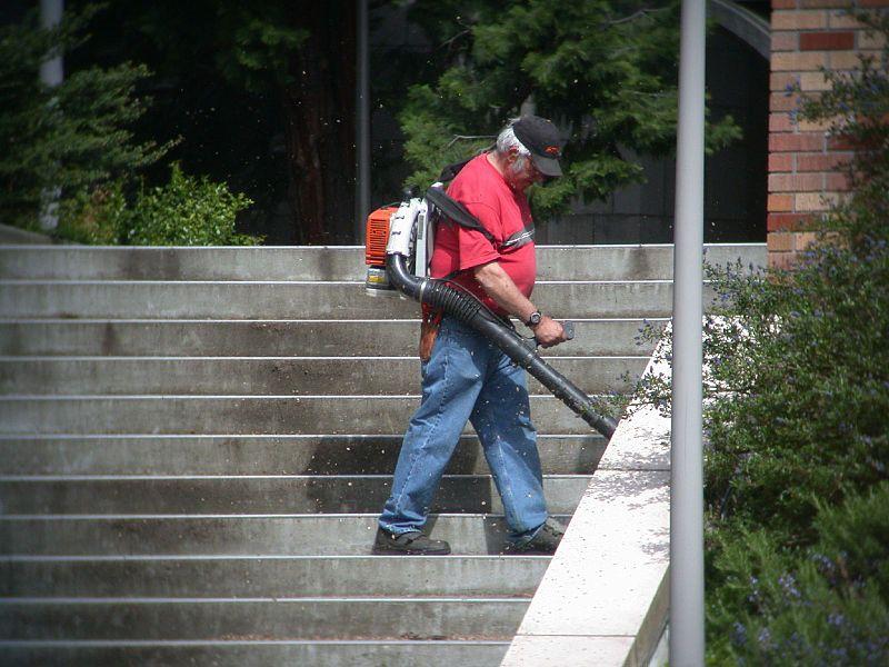 File:Man with leaf blower, Seattle.jpg