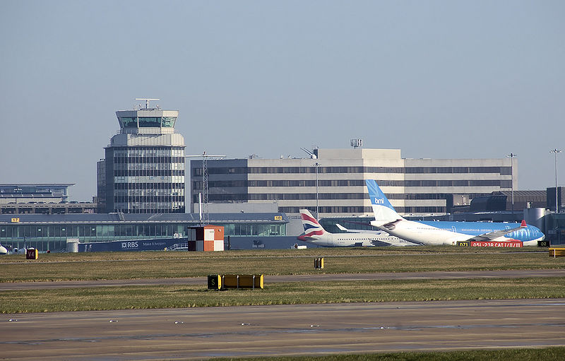 Manchester airport from the south