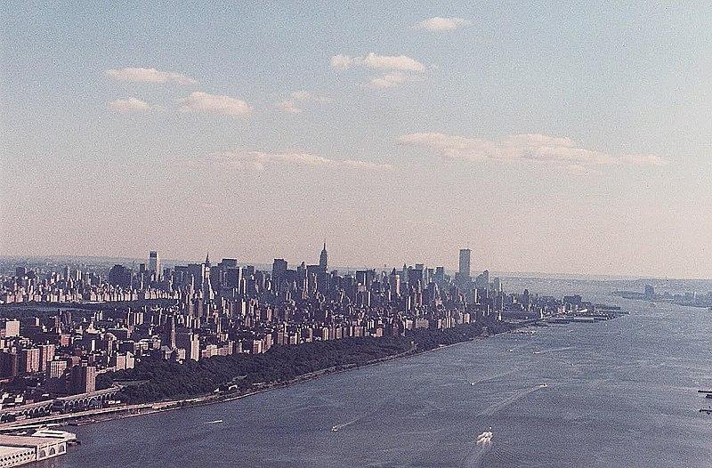 File:Manhattan from above Hudson River.jpg