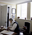 Mannequin of Judge Nicholas Conyngham Tindal in his study at Shire Hall, Monmouth.jpg