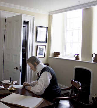 Nicholas Conyngham Tindal - Mannequin of Judge Tindal in the Shire Hall at Monmouth commemorating a famous Chartist trial