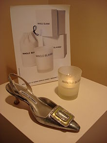 2b29ff4c Display of a Manolo Blahnik shoe
