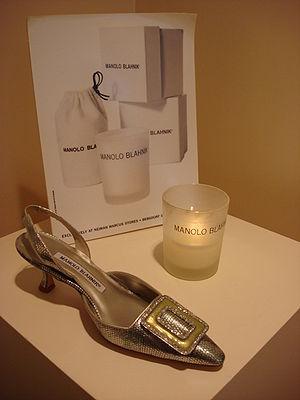 Manolo Blahnik - Display of a Manolo Blahnik shoe