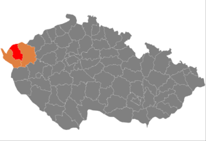 District location in the کارلووی واری علاقہ within the چیک جمہوریہ