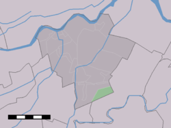 The statistical district of Achterdijk in the municipality of Zederik.