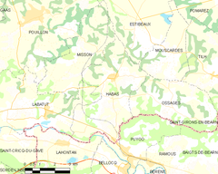 Map commune FR insee code 40118.png