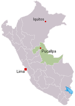 The plane, headed from Lima to Pucallpa to Iquitos, crashed outside Pucallpa at 21:20 UTC.