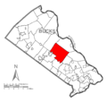Map of Buckingham Township, Bucks County, Pennsylvania Highlighted.png