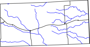 Map of Cheyenne County, Colorado