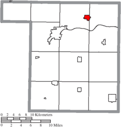 Location of Liberty Center in Henry County