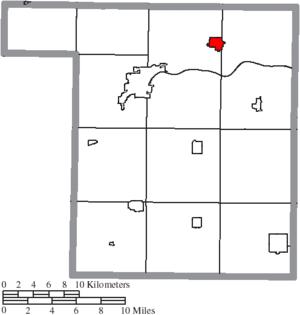 Liberty Center, Ohio - Image: Map of Henry County Ohio Highlighting Liberty Center Village