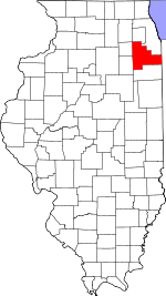 Map of Illinois highlighting Will County.svg