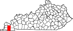 State map highlighting Graves County
