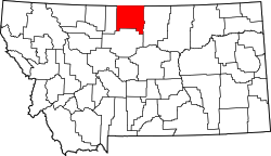 Map of Montana highlighting Hill County.svg