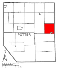 Map of Potter County, Pennsylvania Highlighting Pike Township.PNG