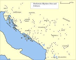 Illyrians - Illyrian sites.