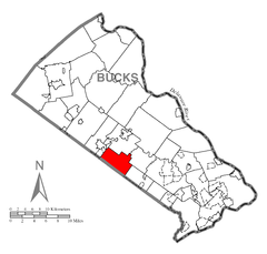 Map of Warrington Township, Bucks County, Pennsylvania Highlighted.png