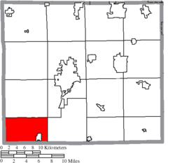 Location of Clinton Township in Wayne County